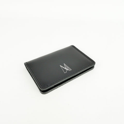Black Leather Card Holder - Chroma