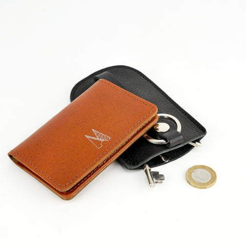 Tan Leather Card Holder - Chroma