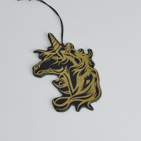 Leather Christmas Unicorn Decoration