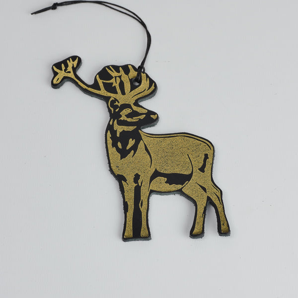 Leather Christmas Reindeer Decoration