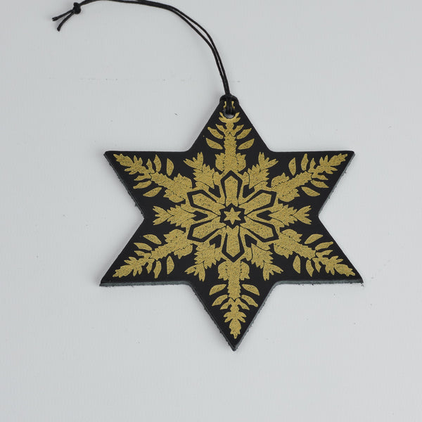 Leather Christmas Snowflake Decoration