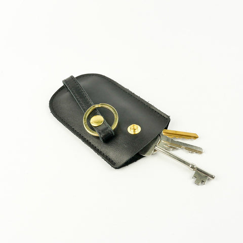 Black Leather Bell Key Holder - Roam