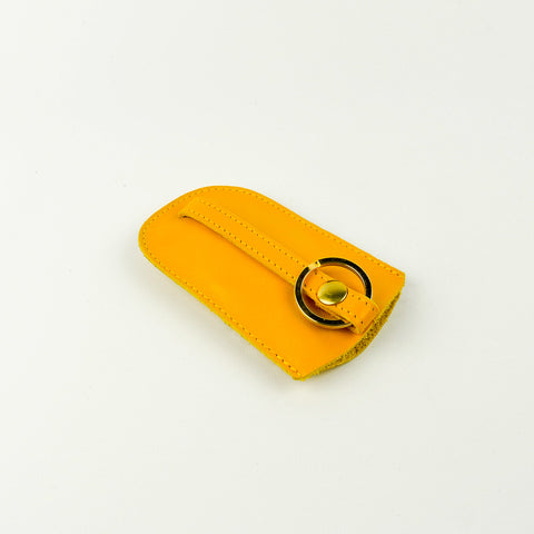 Yellow Leather Bell Key Holder - Roam