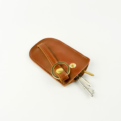 Roam Leather Bell Key Holder Tan