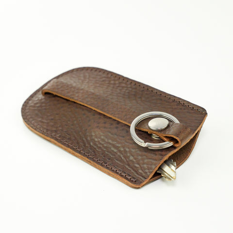 Brown Leather Bell Key Holder
