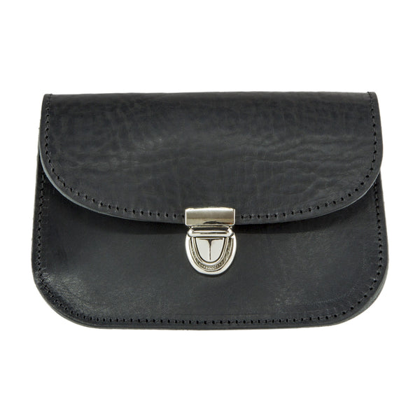 Black Leather Belt Pouch