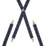 Skinny Argyle Blue and Navy Braces