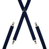 Plain Navy Blue Skinny Trouser Braces