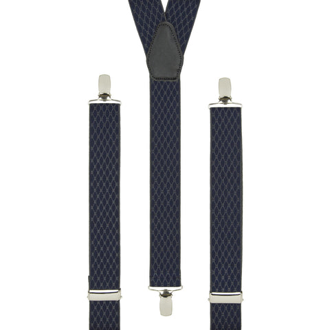 Navy Chain Link Trouser Braces