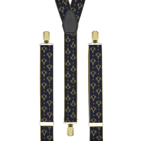 Masonic Gold and Navy Braces