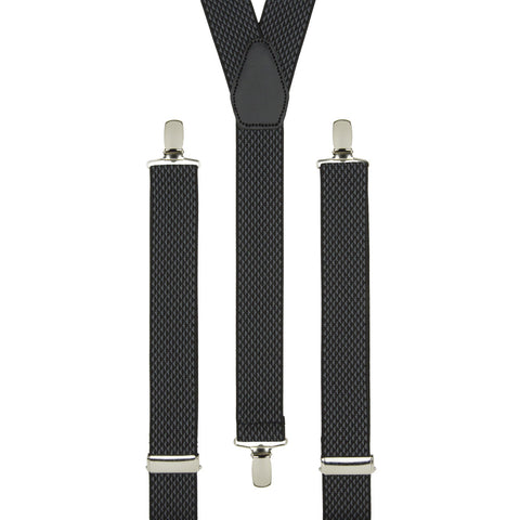Black Basketweave Trouser Braces