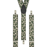 Cream and Green Paisley Trouser Braces