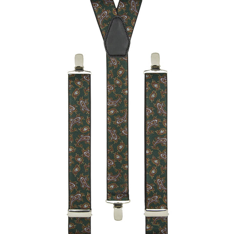 Green and Rust Paisley Trouser Braces