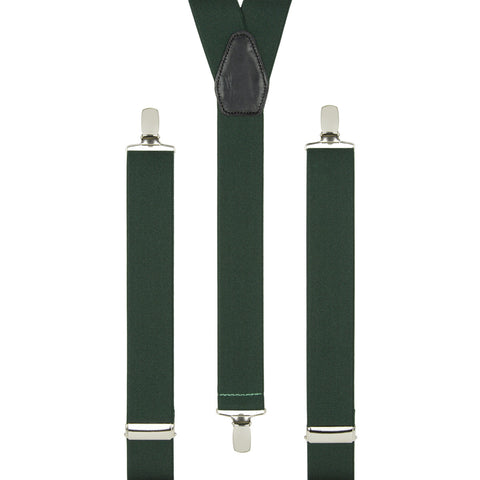 Plain British Racing Green Braces