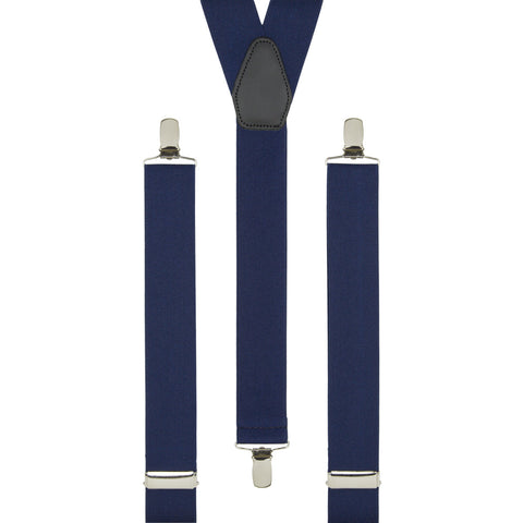 Plain Navy Braces