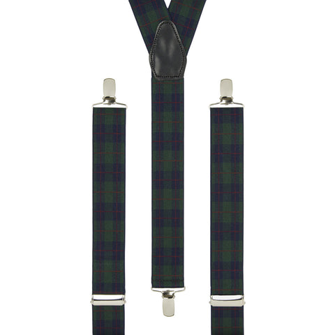 Green & Navy Tartan Trouser Braces
