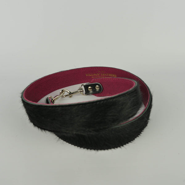 Pure Black Hair on Hide Replacement Bag Strap - Roam