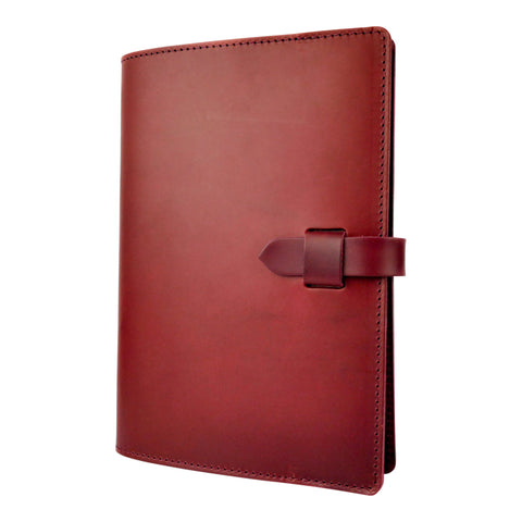 Burgundy Leather Journal Cover A5 - Roam