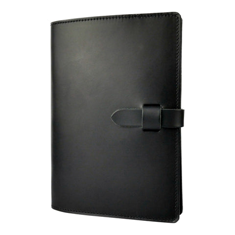 Matte Black Leather Journal Cover A5 - Roam