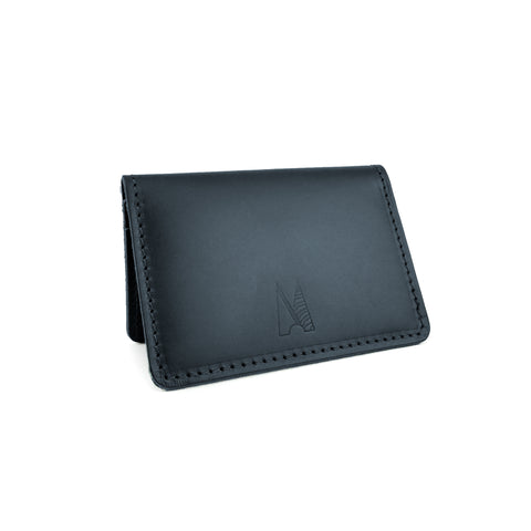 Deep Navy Leather Card Holder - Roam