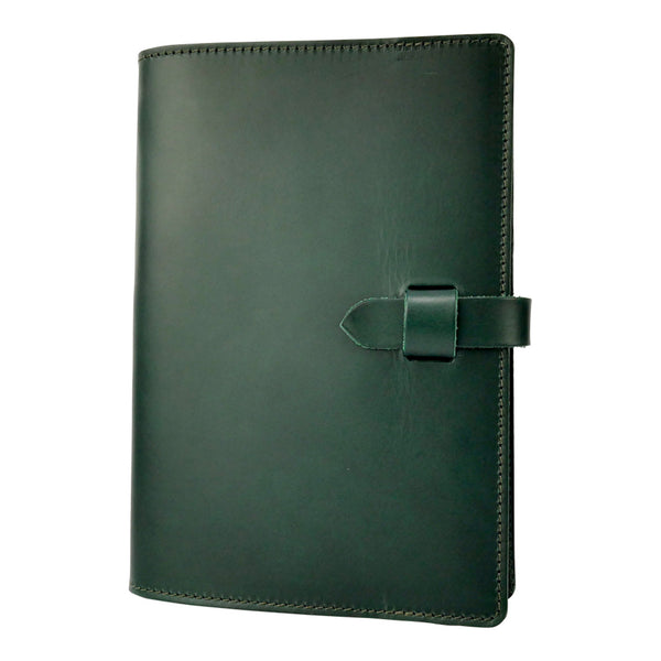 Emerald Green Leather Journal Cover A5 - Roam