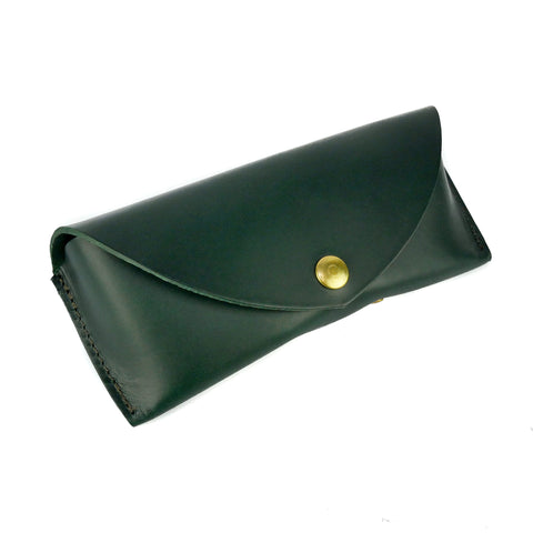 Emerald Green Leather Sunglasses Case - Roam