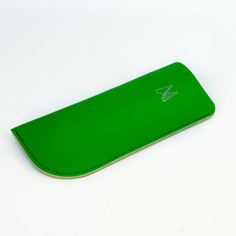 Green Leather Glasses Case - Chroma