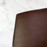 Chocolate Brown Leather Journal Cover A5