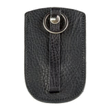 Black Leather Bell Key Holder