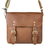 Dexter Medium Leather Satchel Tan