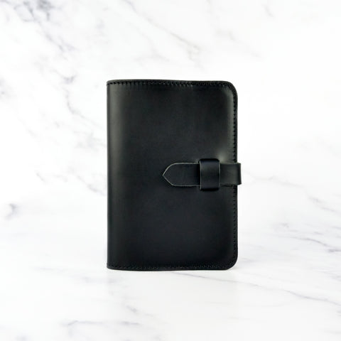 Matte Black Leather Journal Cover A6 - Roam
