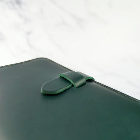 Emerald Green Leather Journal Cover A6 - Roam