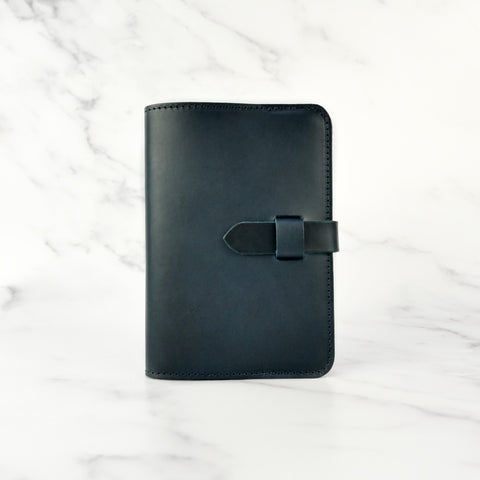 Deep Navy leather Journal Cover A6 - Roam