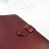 Burgundy Leather Journal Cover A6 - Roam