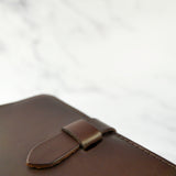 Chocolate Brown Leather Journal Cover A6 - Roam