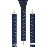 Navy Polkadot Trouser Braces