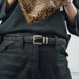 "Black 1"" Hair on Hide Leather Belt - Roam"