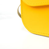 Yellow Leather Shoulder Bag - Chroma