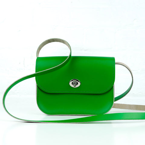 Green Leather Shoulder Bag - Chroma
