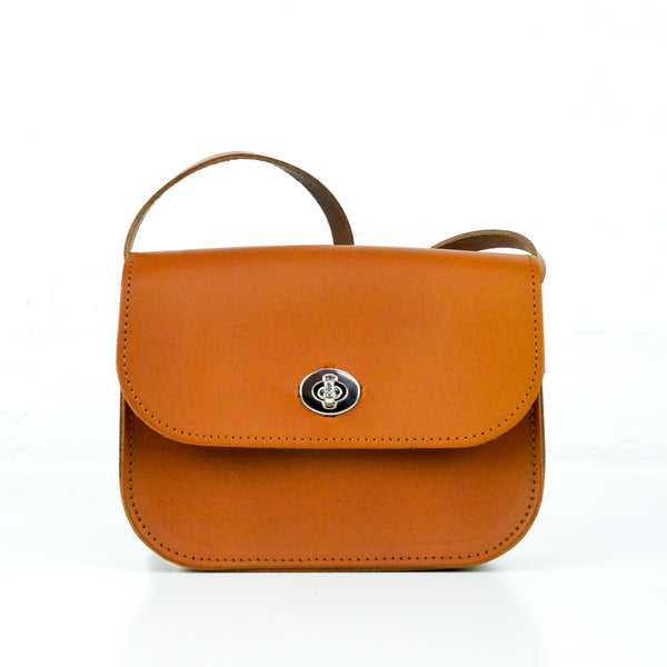 Tan Leather Shoulder Bag -  Chroma