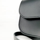 Black Leather Shoulder Bag - Chroma