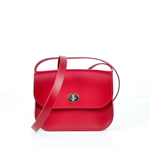 Red Leather Shoulder Bag - Chroma