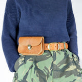 Tan Leather Belt Pouch