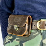 Brown Leather Belt Pouch