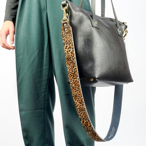 Leopard Print Hair on Hide Replacement Bag Strap - Roam