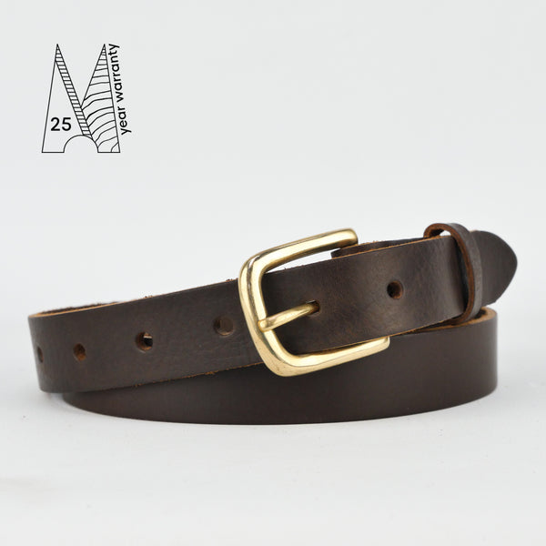 "1"" Classic Brown Leather Belt"