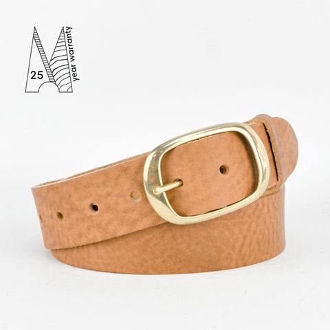 "1 1/2"" Classic Tan Leather Belt"