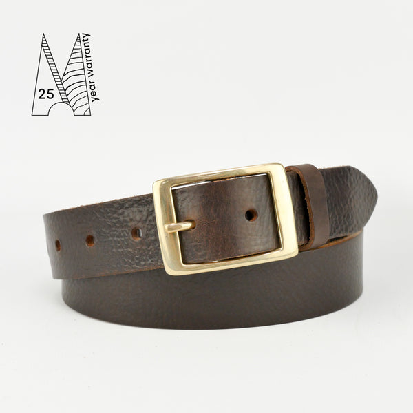 "1 1/4"" Classic Brown Leather Belt"