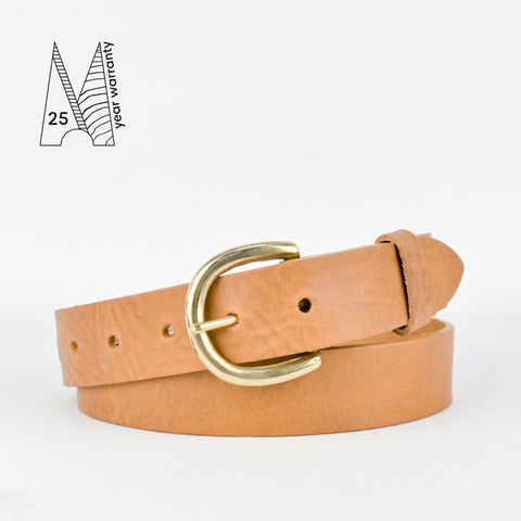"1 1/4"" Classic Tan Leather Belt"