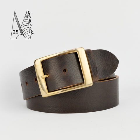 "1 3/4"" Classic Brown Leather Belt"